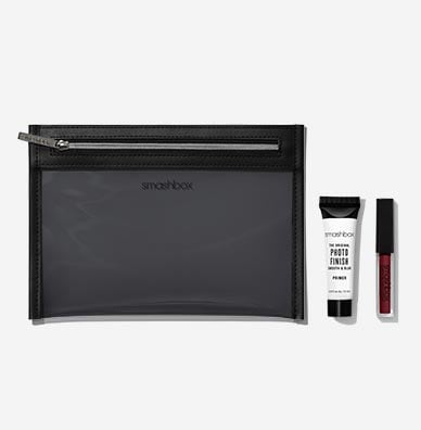 Makeup Bag + Photo Finish Primer + Always On Lipstick - Miss Conduct