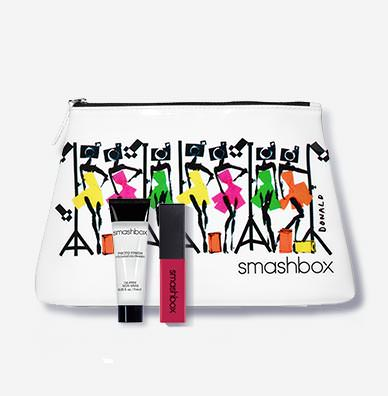 PHOTO BOMBSHELL MAKEUP BAG + LIP GLOSS + CLASSIC PRIMER