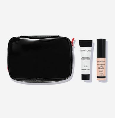 Makeup Bag + Photo Finish Primer Sample + Lid Primer Sample